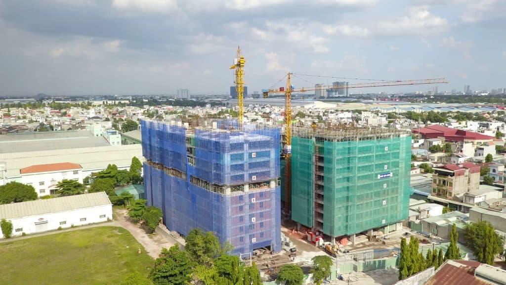 tiến độ dự án parkview apartment thuận an tháng 5/2021