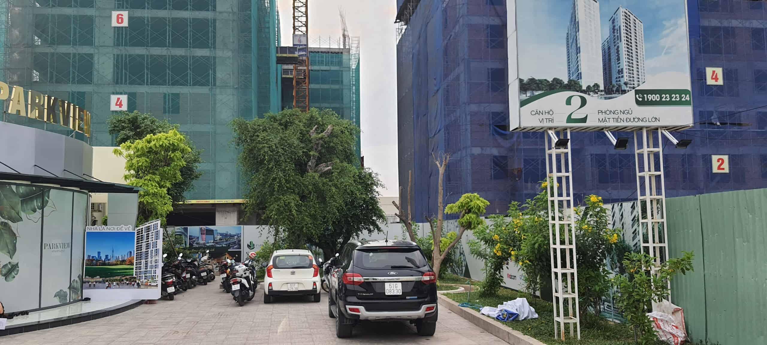 tiến độ dự án parkview aprtment