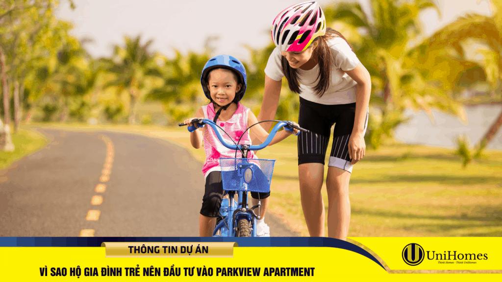 Gia đình trẻ đặc biệt quan tâm đến những dự án căn hộ có mảng xanh lớn để đảm bảo sức khoẻ, thuận tiện sinh hoạt, vui chơi.