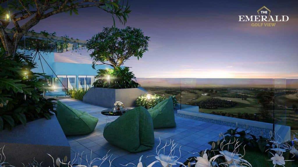 Khu vườn chân mây dự án The Emerald Golf View